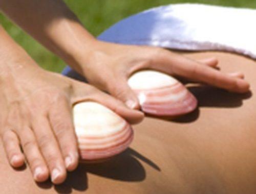 Coquillages chauffants, massage relaxantma